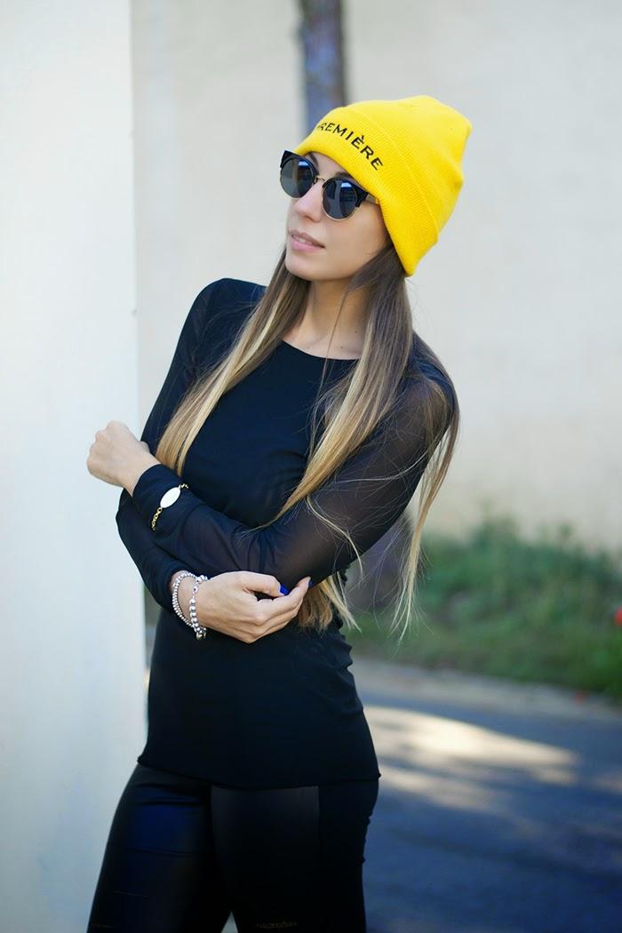 outfit giallo nero