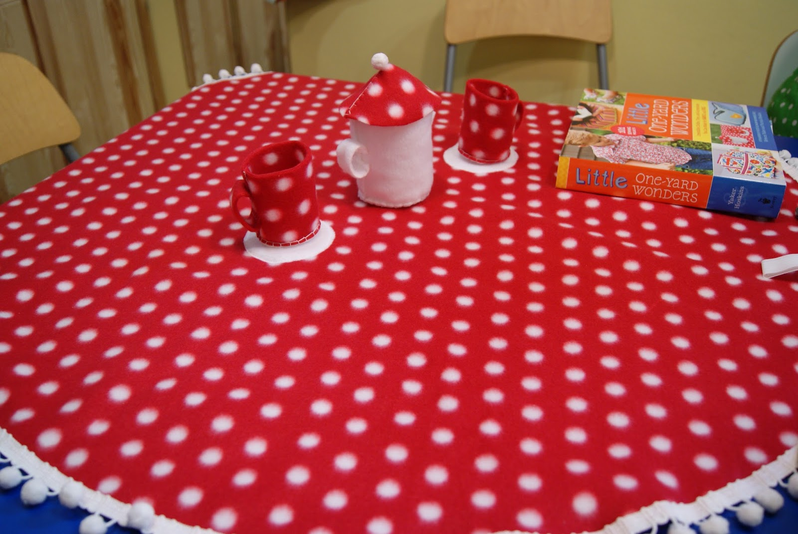 Mushroom Tea Party, Little One-Yard Wonders book release party