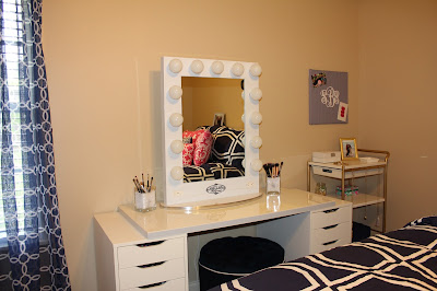 Ikea Vanity with a Vanity Girl Mirror