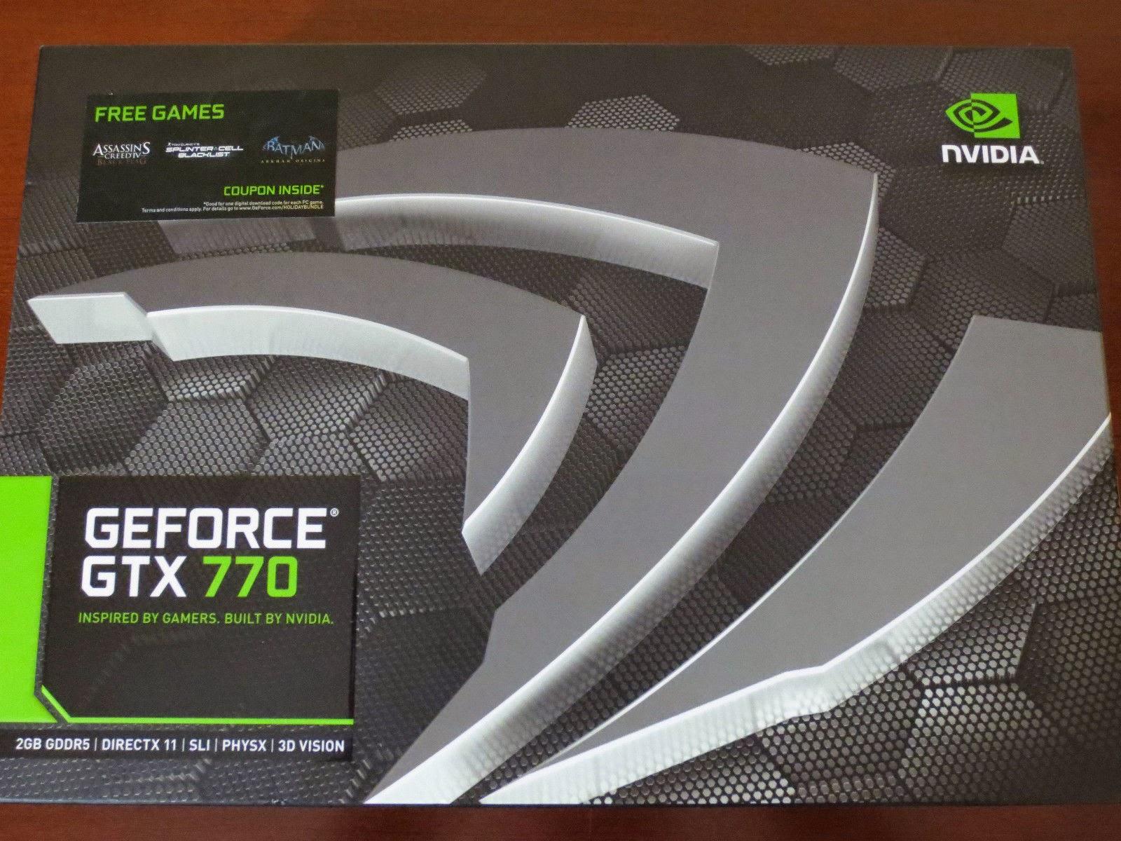 NEW NVIDIA GEFORCE GTX770 2GB GDDR5 SLI GRAPHICS CARD