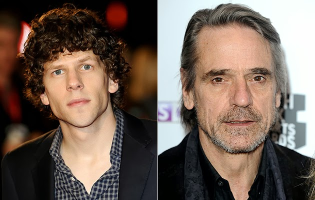 Nuevos fichajes en 'Batman Vs. Superman': Jesse Eisenberg como Lex Luthor y Jeremy Irons como Alfred. MÁS CINE. Making Of