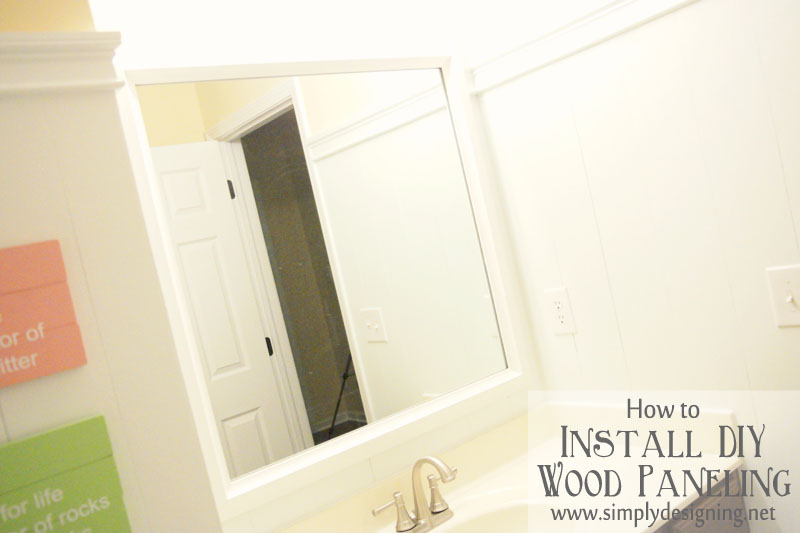 Diy wood paneling for D i y bathroom installations