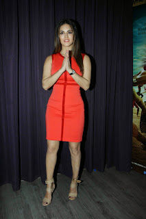 Sunny Leone Pictures in Red Short Dress at Ek Paheli Leela Press Meet ~ Celebs Next