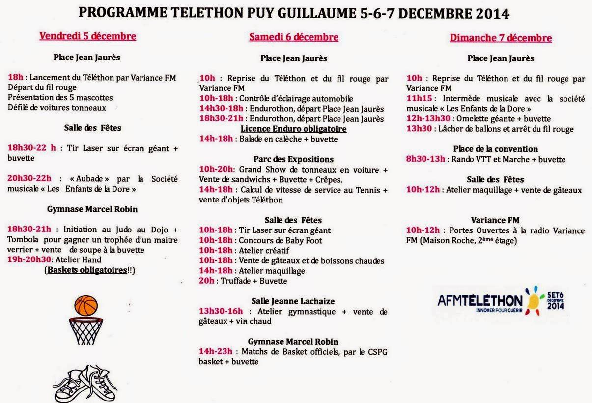 Téléthon 2014: Puy Guillaume, 63
