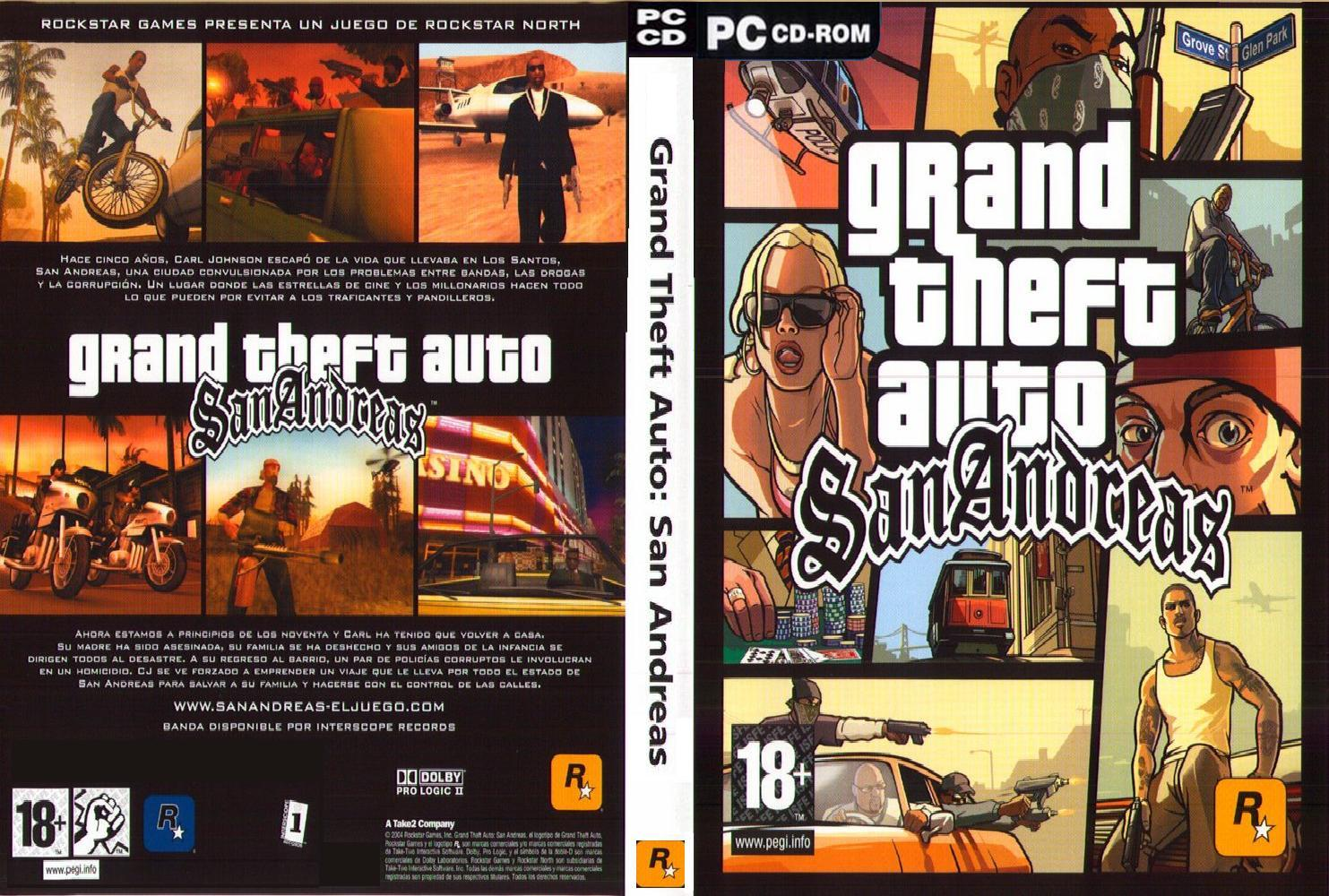 Grand theft auto san andreas pc dvd espanol pc