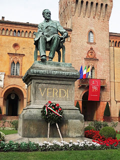 The statue of Giuseppe Verdi in his home town of Busseto