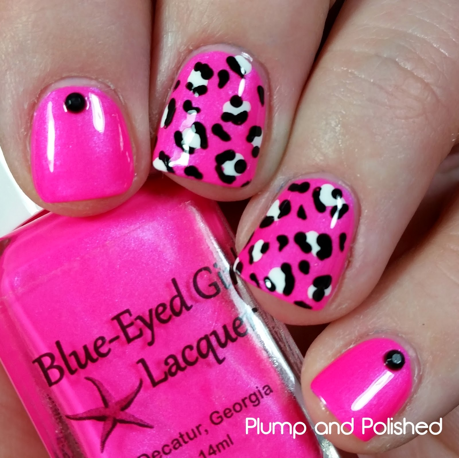 Blue-Eyed Girl Lacquer - Sirène Fatale Leopard Print Nail Art