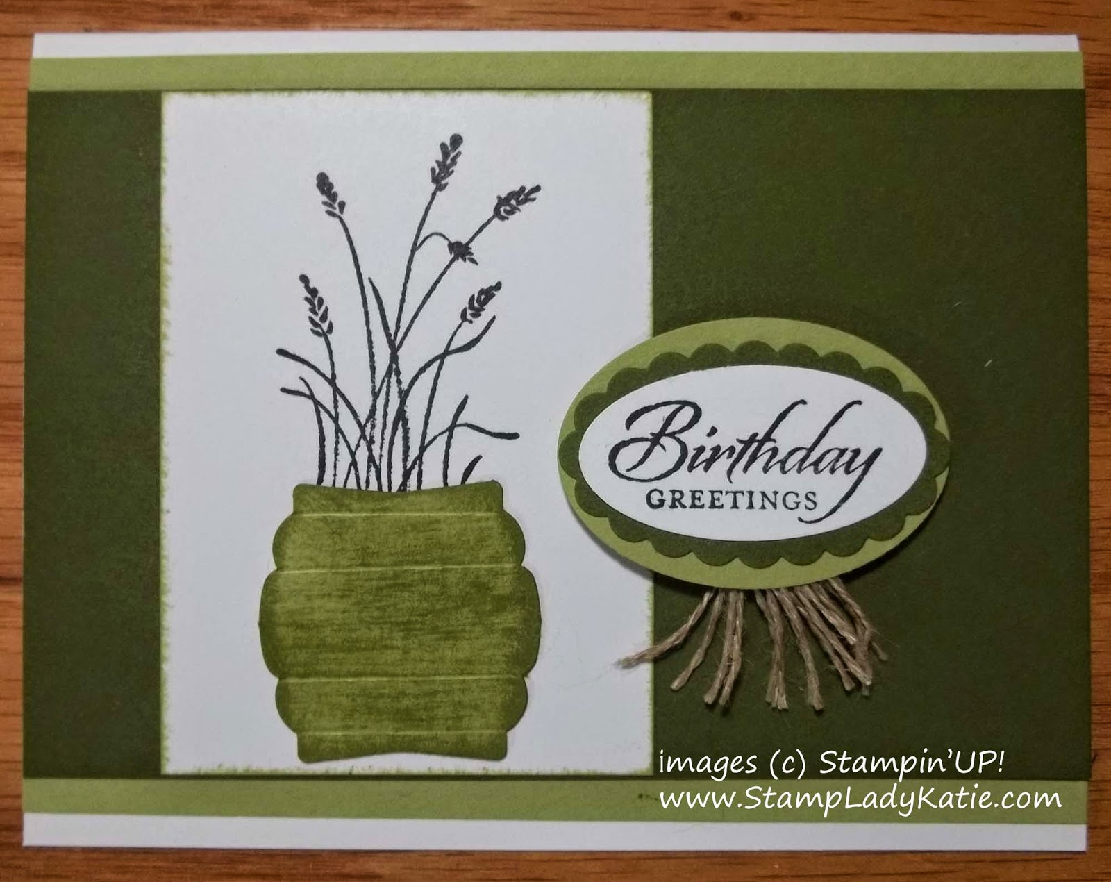 Card made with images from the Wetlands Stamp set and a Punch Art Vase made with the Artisan Label Punch