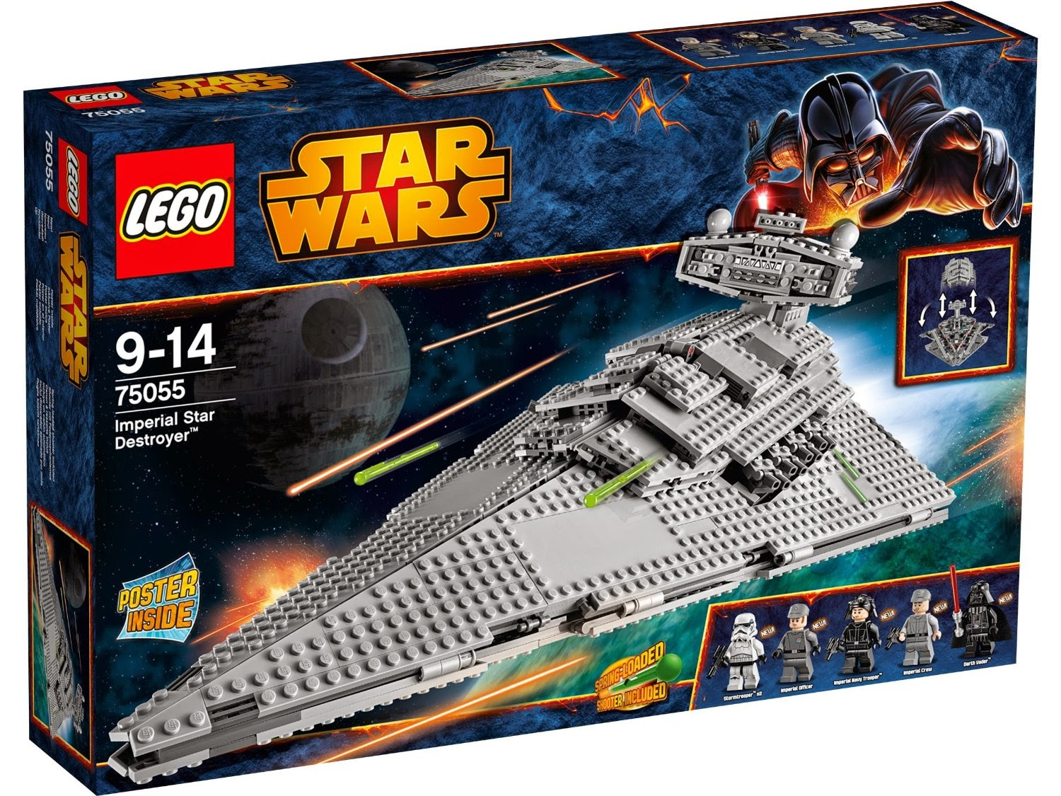 Caja Lego Star Wars de la nave destructor imperial