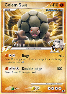 Golem 4 Pokemon Card Rising Rivals Set