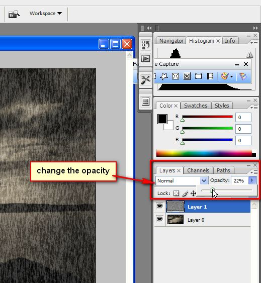 Free Photoshop Tutorials-Create rain effect