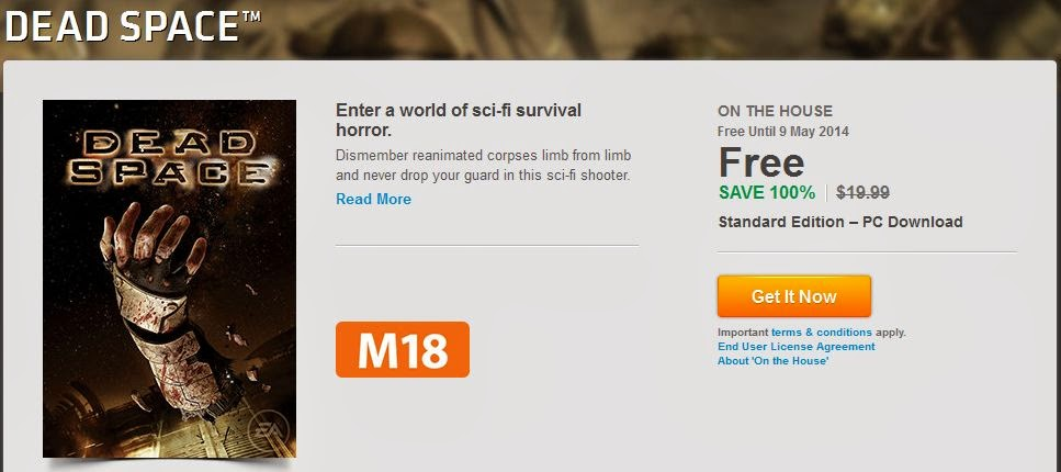 Dead Space free on Origin