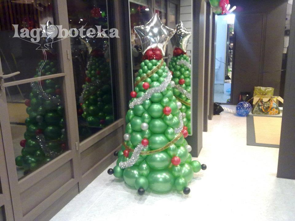 La globoteka rbol de navidad original con globos - Decoracion navidad original ...