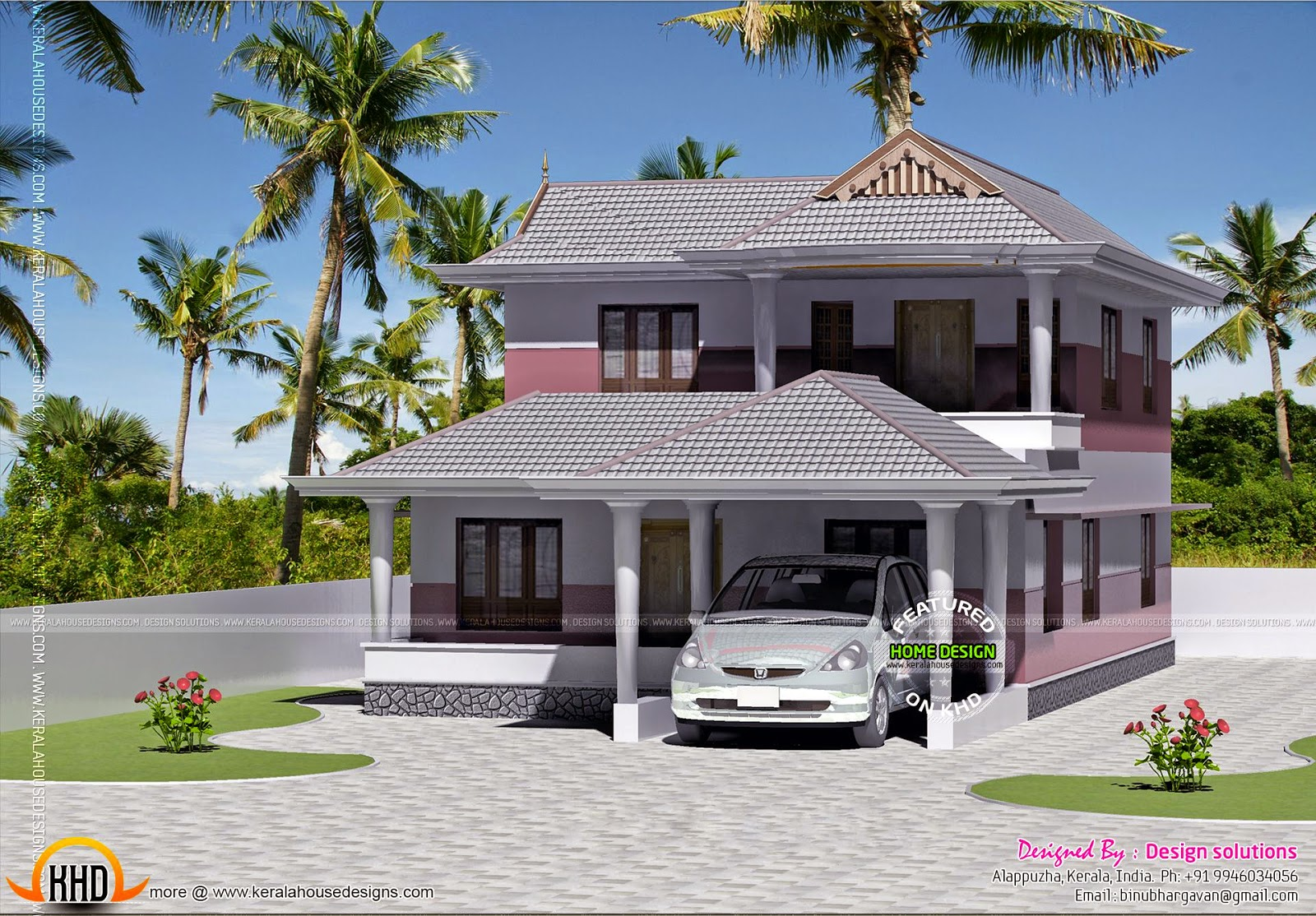 Small 4 Bedroom House Plan Kerala Home Design And Floor