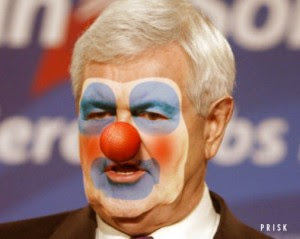 Newt Gingrich clown