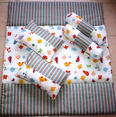 Butterfly Green Stripe Bedding