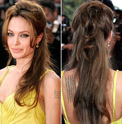 angelina jolie back tattoos