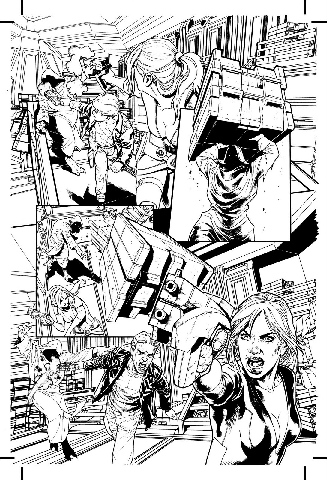 And Here Are More Black White Pages From Mass Effect Evolution Series I Hope You Like Them To Come