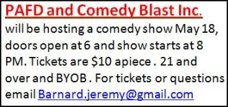 5-18 ComedyShow--Port Allegany