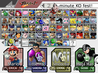 roster de Smash Bros 4