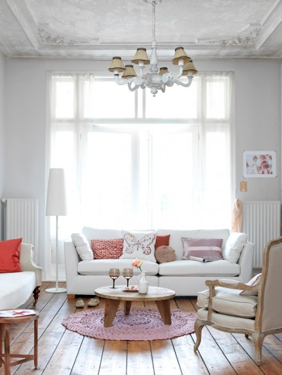 2013 Stylish And Feminine Living Rooms Decorating Ideas