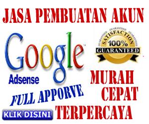 Jasa Pembuatan Akun Google Adsense Murah