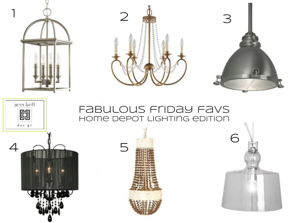 simply life design: Fabulous Friday Favs - Home Depot Lighting Edition