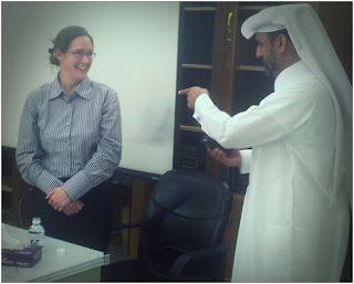 Cathy McCormack Meets Mr. Ali Sinari from Qatar Social Club for the Deaf