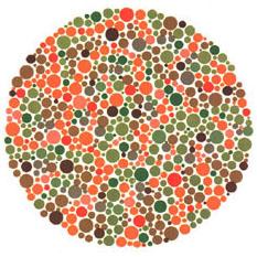 Prueba de daltonismo - Carta de Ishihara 28