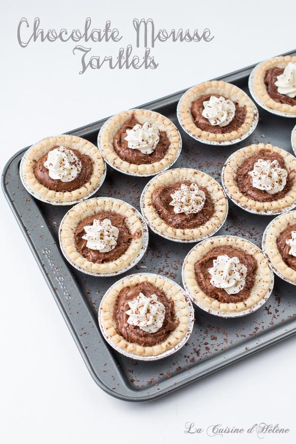 Salted Chocolate Mousse Tartlets - La Cuisine d'Helene
