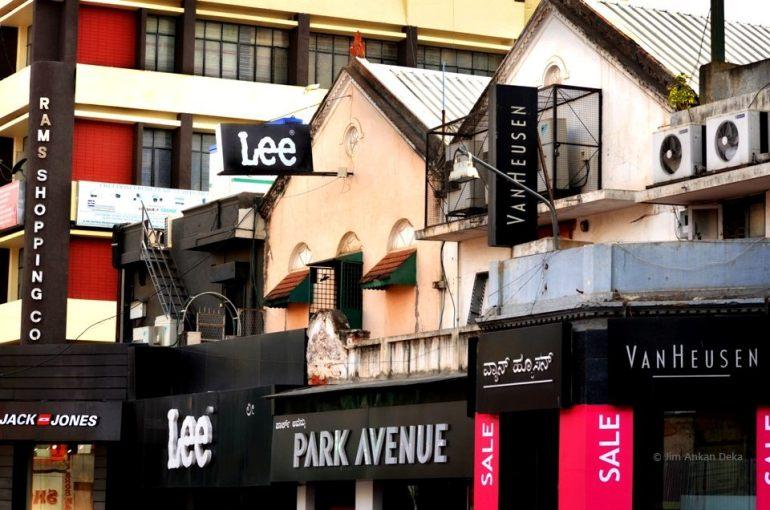 Mercantile establishments at Brigade Road, Bangalore (© Jim Ankan Deka)