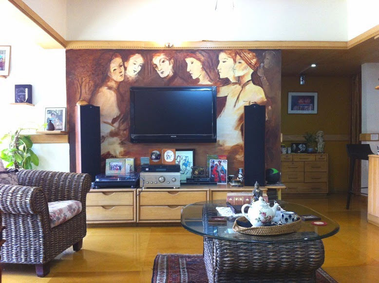 Art in Interiors, Mural by artist Bharati Sagar,  Image courtesy artist, Art Scene India