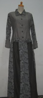 model gamis denim