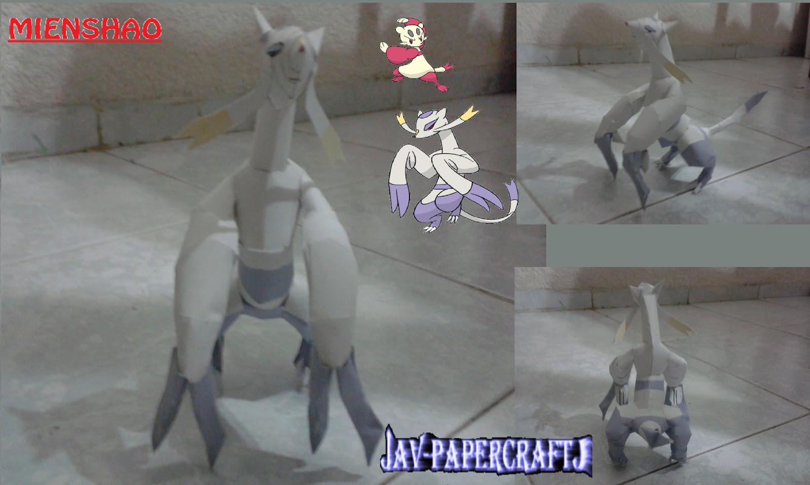 Pokemon Mienshao Papercraft