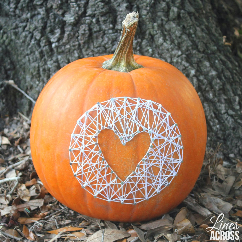 Pumpkin String Art - Lines Across