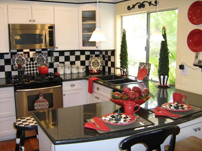 decorating themed ideas for kitchens afreakatheart interior and decorating idea for red kitchen themes