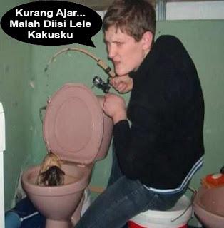 gambar funny mancing toilet