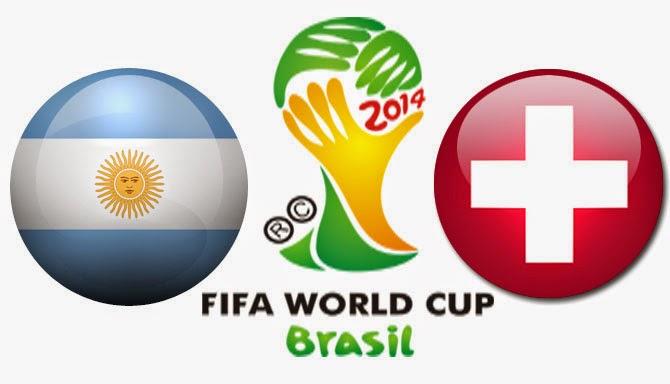 Prediksi Hasil Akhir Laga Fase Perdelapan Final World Cup Rabu 2-07-2014 : Argentina Vs Swiss