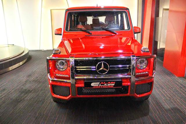mercedes w463 g63 amg red
