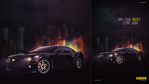 Create A Creative Camaro Poster In Photoshop