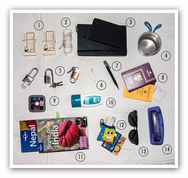 Cosas de la mochila para ir a Asia