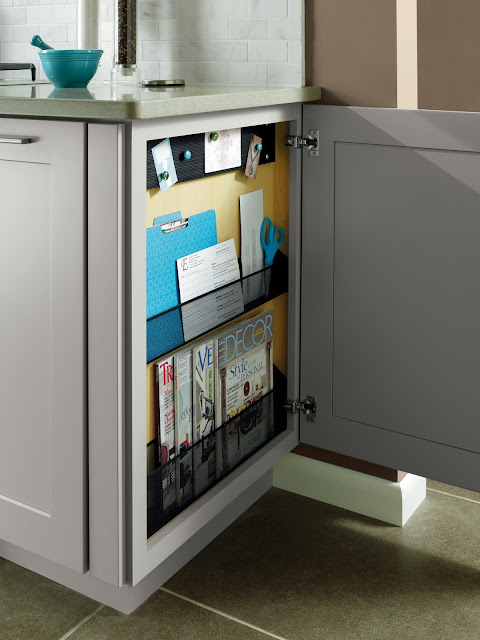 Message Center at end of cabinets :: OrganizingMadeFun.com
