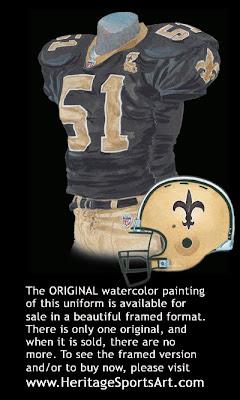 New Orleans Saints 2006 uniform