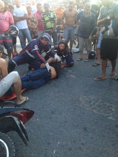 Acidente no cruzamento da avenida São Sebastião com rua Armando Burlamaqui, deixa saldo de dois feridos