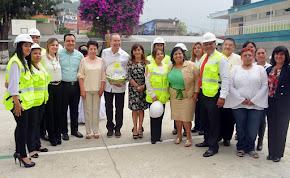 Supervisan avances del Programa Escuelas al CIEN en Primaria Adolfo Ruiz Cortines