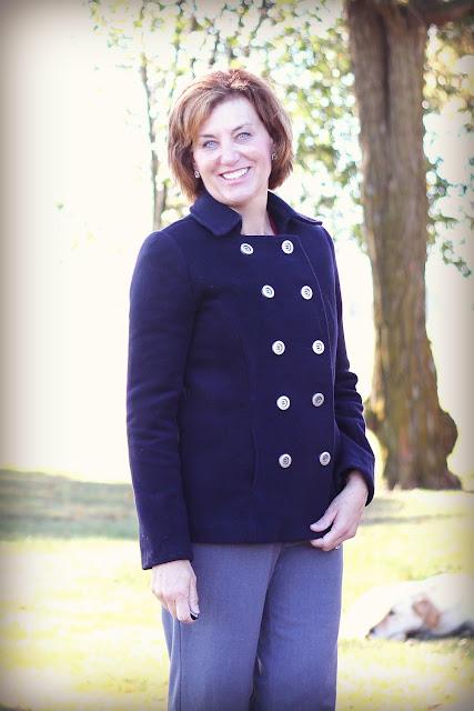 Vogue 1467 Pea Coat in Mood Fabrics' Italian wool coating