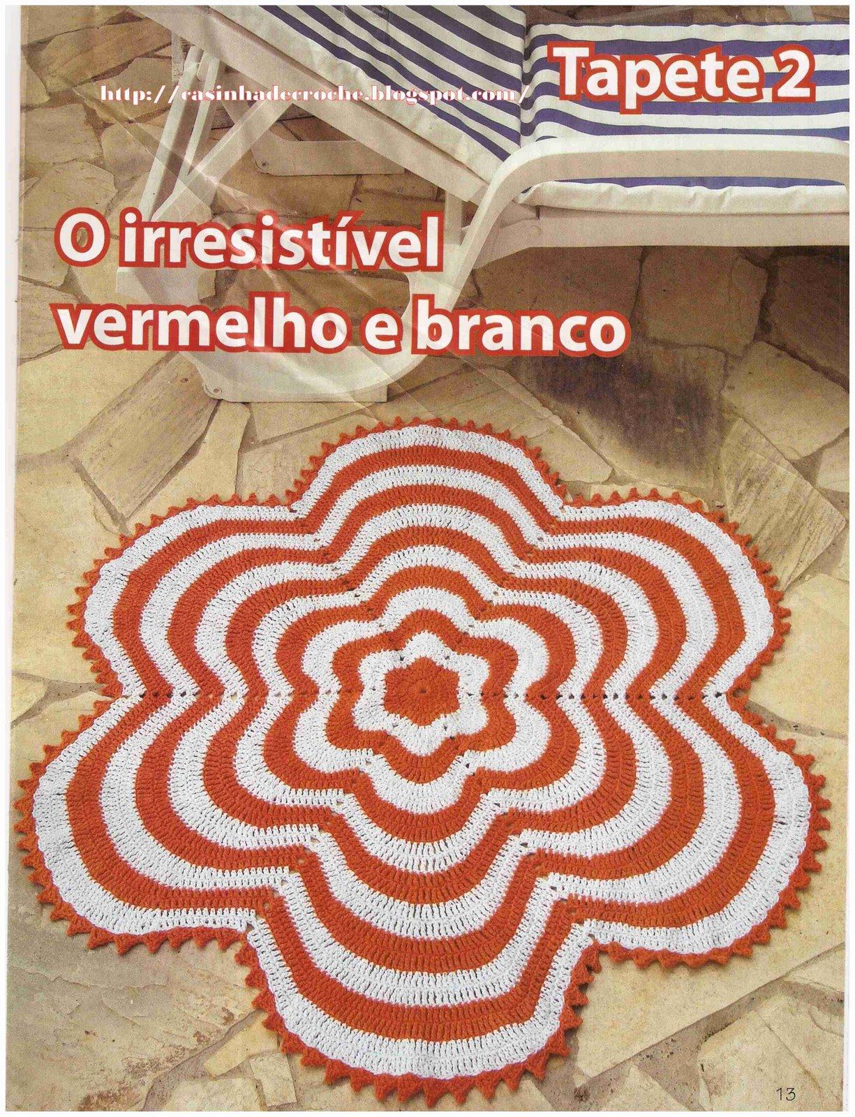 Tapete De Croche Em Barbante De Flor   Gr  Fico