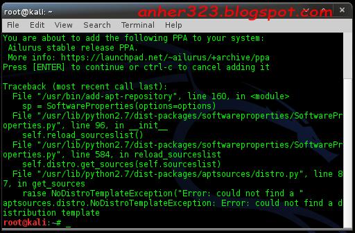 Repositori Ppa di kali linux