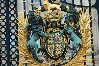 Detail of the Buckingham Palace gate
