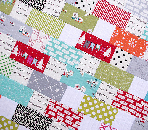 Red Pepper Quilts: A Cherry Christmas Quilt : christmas quilt fabric collections - Adamdwight.com
